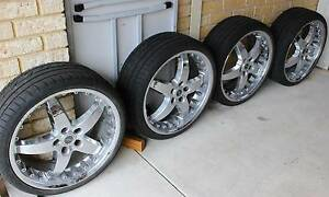 TYRES & RIMS set of 4 ROH CHROME MAGS fit HOLDEN VY etc Joondalup Joondalup Area Preview