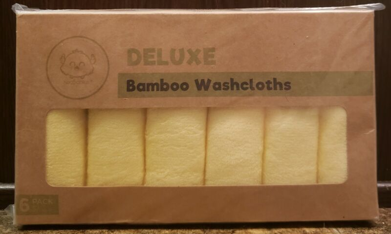 Baby Bamboo Washcloths Soft Face Towel For Baby & Adult Sunshine Yellow 6 Pack
