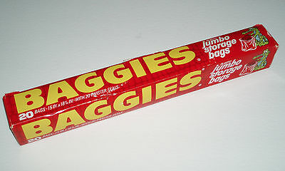 Vintage 1970's BAGGIES STORAGE BAGS BOX w/ Alligator packaging
