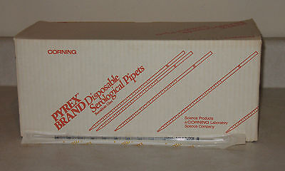 200 Pyrex Corning 7077-1n 1ml 1100 Sterile Disposable Plugged Pipets Pipettes