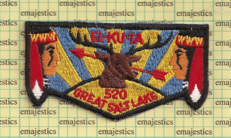 BSA OA LODGE 520 EL KU TA UTAH S-2 FLAT NECK BEAUTIFUL MINT FLAP