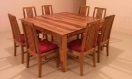 Dining Table with 8 Chairs Baldivis Rockingham Area Preview