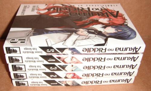 Akuma no Riddle Riddle Story of Devil Vol.1,2,3,4,5 Manga English