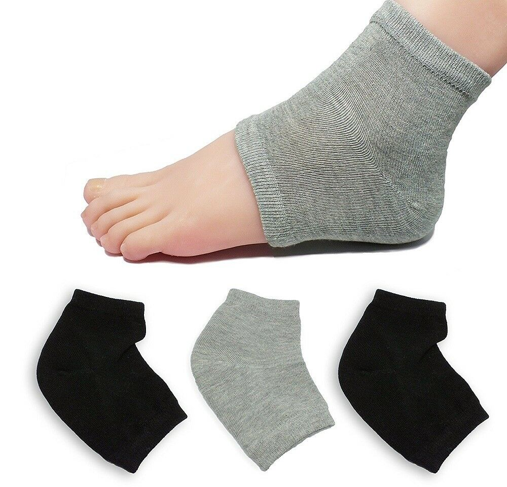 2Pairs Heel Socks for Dry Hard Cracked Skin Moisturizing Open Toe Recovery Socks Foot Creams & Treatments