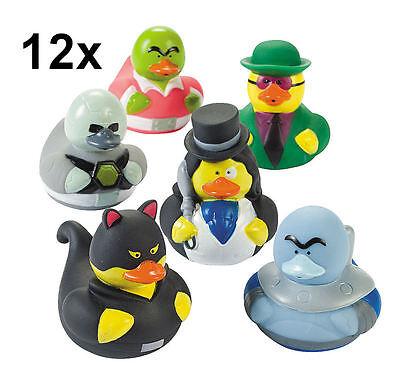 12 Villain Rubber Ducks - Super Heroe Enemy Batman Villian Duckies Ducky - NEW (Superhero Rubber Ducks)