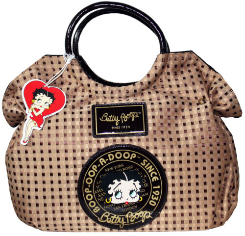 BETTY BOOP Licensed Handbag Woven Design Brown (NEW with Tag) US Seller