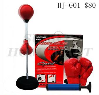 NEW Home GYM Free Standing Boxing Punching Kicking Bag Fitness Richlands Brisbane South West Preview