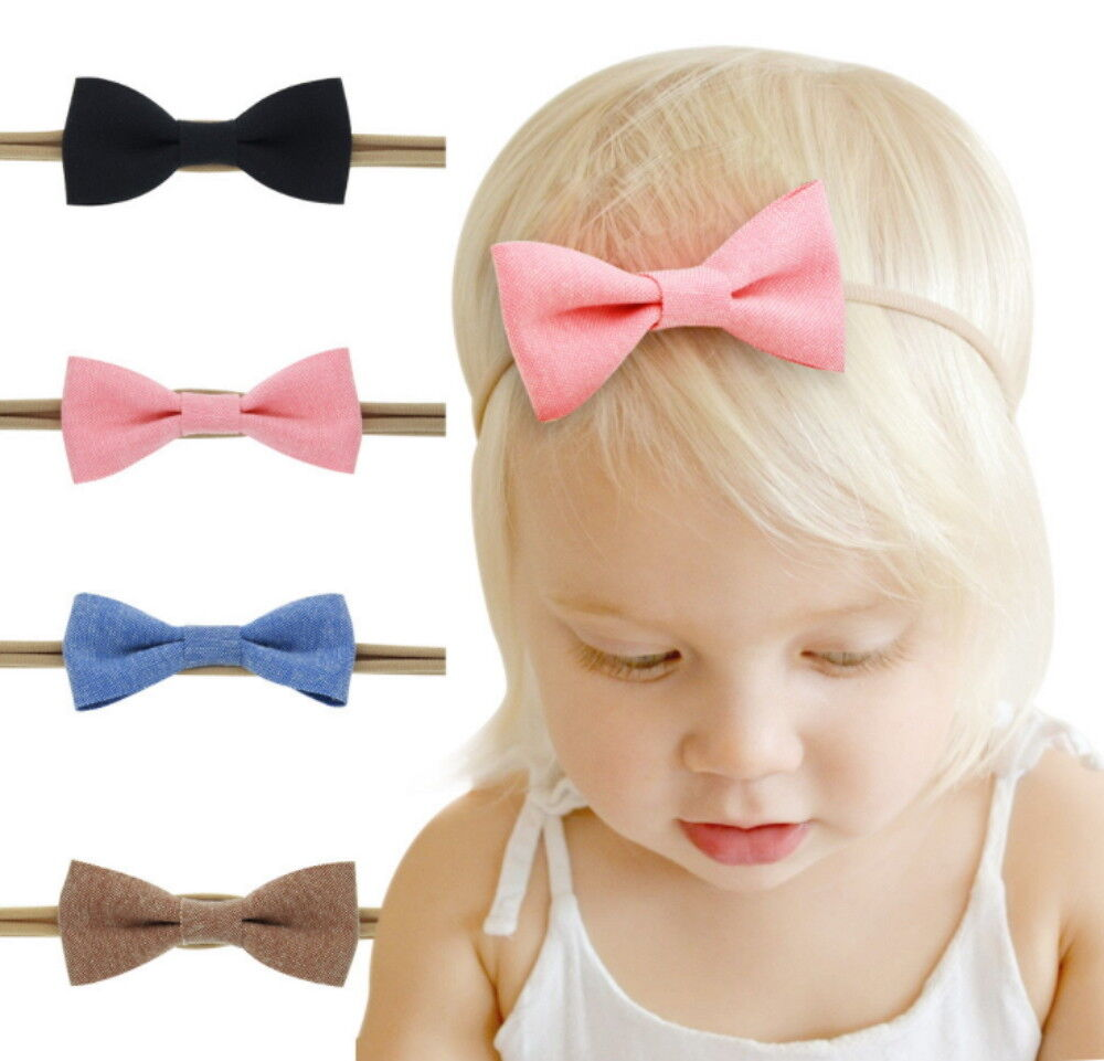 4Pcs Cute Girl Baby Toddler Infant Flower Headband Hair Bow Band Accessories Baby