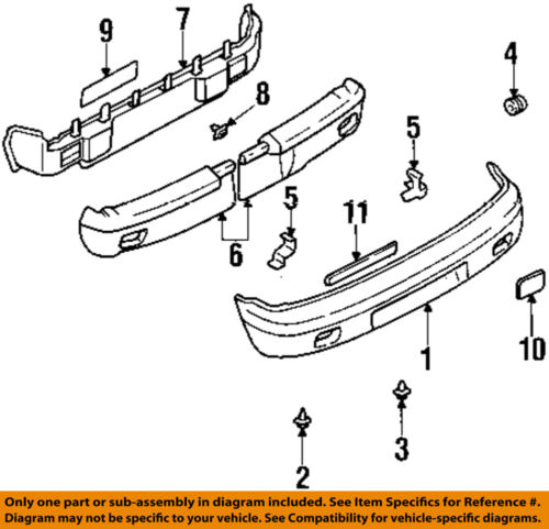 kia oem 95 02 sportage rear bumper bumper cover mount plate left Types of Gas Matter 5 on diagram only genuine oe factory original item