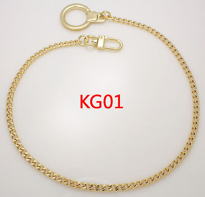 "k-craft KG01 keyring chain Strap Gold 5mm x 40cm(16"") handle handbag replacement"