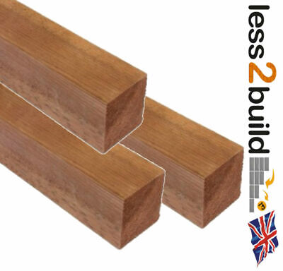 Brown Treated Timber Wooden Fence Posts 4