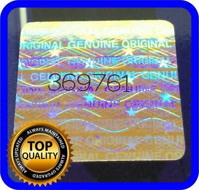 128 Pcs Hologram Labels With Serial Numbers Warranty Stickers Seals .70 X .70