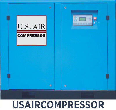 New 75 Hp Us Air Compressor Rotary Screw Vfd Vsd W Tradn Gardner Denver Etc