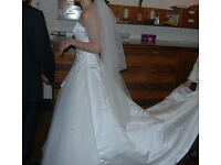 great wedding dress with veil, size from 8 to 12