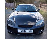 2006 HYUNDAI COUPE 2.0 SE BLACK, ONLY 76,000 GENUINE Miles, Leather Seats, Alloys, MOT June 2017