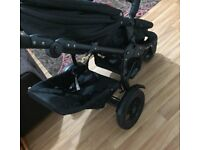 Obaby double pram and pushchair