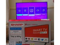 """Moving Out Sale - Sharp 43"""" LED Smart TV (LC-43CFF6001K)"""