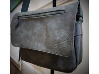Branded BLACK HAWK: The Finest Quality Grey Leather Shoulder Messenger Bag/Laptop Bag/ College Bag
