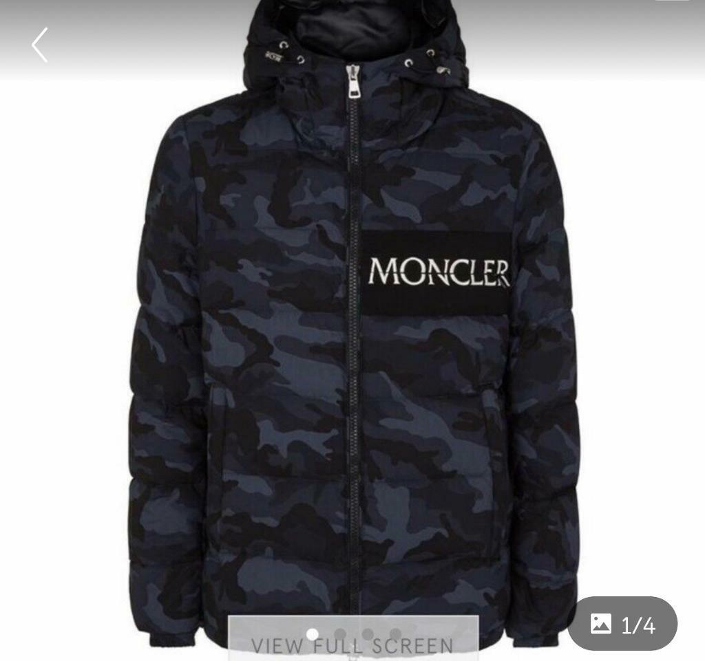 e249edc9f5dab Aiton blue camo moncler coat | in Liverpool, Merseyside | Gumtree