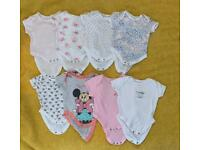 Baby girl sleeping suits and body suits 0-3 months