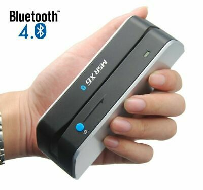 Bluetooth Msr X6bt Mini Magnetic Stripe Card Reader Writer Encoder Mag Tk A1