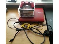 PS3 LIMITED EDITION 500GB IN RED
