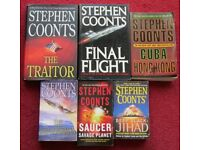 STEPHEN COONTS - SIX BOOKS, TITLES IN DESCRIPTION, all in good condition, smoke/pet free home