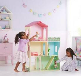 Girls dolls house with loads of accessories