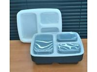 Meal prep 3 Compartment Food Containers x 10 Lunch Box