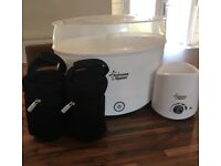 Tommie Tippee steriliser, bottle warmer and insulated bags