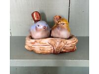 Ceramic birds in nest salt and pepper shakers. Kitch kitchen!