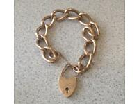 9ct Gold Women's Bracelet, 31g, 8""