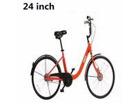 getb-Ladies-24inch-Wheel-Single-Speed-Orange-bicycle-kit