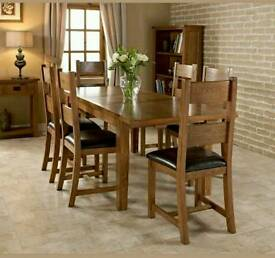 DORSET EXTENDING DINING TABLE SOLID AMERICAN WHITE OAK (RRP £849)