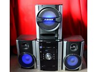 Sharp CD-SW340H music system,with flashing speakers n bass speaker