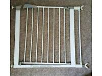3 x lindum baby stair gates with extension and post adapters