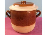 LARGE - 12 PINT - FRENCH EARTHENWARE CASSEROLE DISH FOR PARTY XMAS BIRTHDAY CATERING