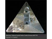 Steinbach Optical Diamond Etched Crystal Italian Castle fortress 6697701