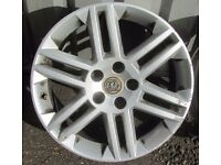 "Full Set of Vauxhall Alloy wheels 17"" vgc x 4"