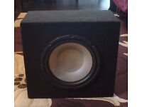 Subwoofer & 400W Pioneer amplifier with cables