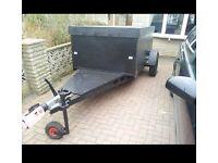 Go kart, motorbike, jetski, pitbike etc. Box trailer. Fully protected.