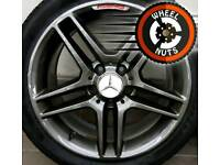 "17"" Genuine AMG Mercedes alloys staggered perfect cond excel tyres."