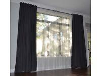 Long Grey ikea patio door window curtains