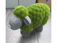 NEW La Hacienda Flocked Sheep Garden Ornament