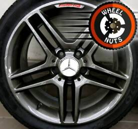 """17"""" Genuine AMG Mercedes alloys staggered perfect cond excel tyres."""