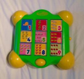 Beanstalk Electronic Toy. Shapes, Colours, Letters And Numbers. With Batteries.
