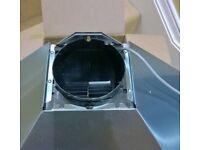 Extractor hood plastic part for recirculating air