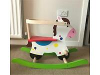 Wooden rocking horse 1-3 years.
