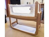 Snuzpod 3 in 1 co-sleeper with accessories - organic materials