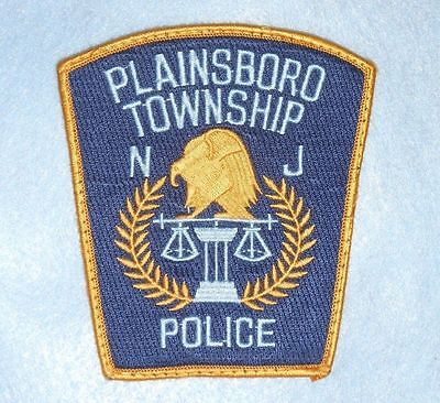 """Plainsboro Township Police Dept Patch  - New Jersey - 4"""" x 4 1/2"""""""